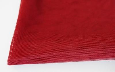 Siatka / Tiul sukienkowy, miękki, lejący - bordowy