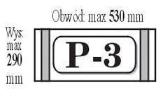 Okładka przylepiana P3 (50szt) IKS