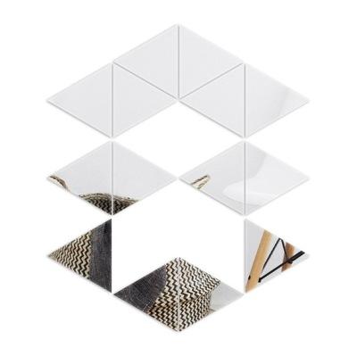 Zrkadlové 5 cm geometrické akrylové trojuholníky HIT