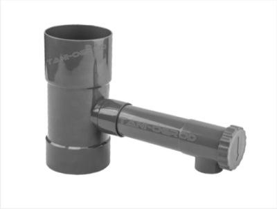 Труба дождевой воды Желоб тройник ??? ствол + клапан 80