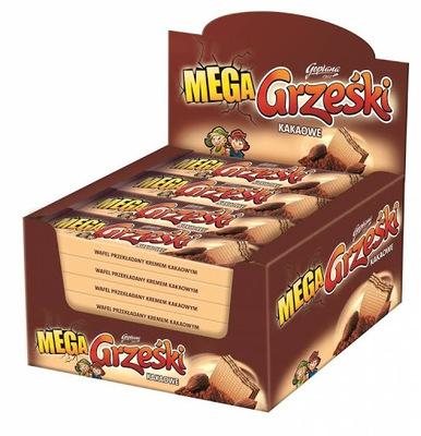 Вафли Grześki мега Какао Без Шоколада 32 штук .