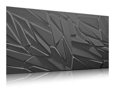 панель 3D камень Декоративный бетон Черный РОК