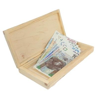 kasetka pudełko na czekoladę banknoty prezent eko