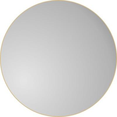 Okrúhle podkrovné nástenné zrkadlo v zlatom ráme, 100 cm