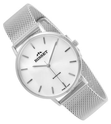 KLASYK Damski zegarek z meshową bransoletą Bisset