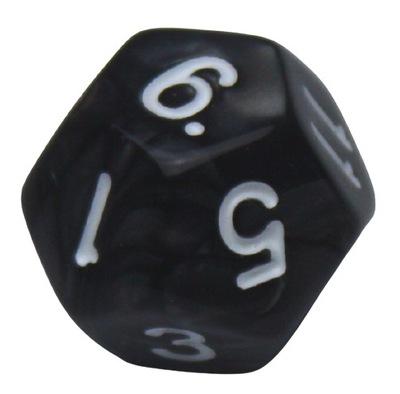 K12 - perłowa czarna, kość kostka OxiDiced