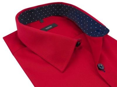Czerwona koszula męska MMER 404N 176-182 / 39-SLIM