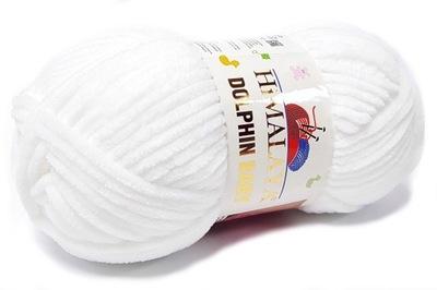 HIMALAYA GRUBA włóczka DOLPHIN BABY biały 80301