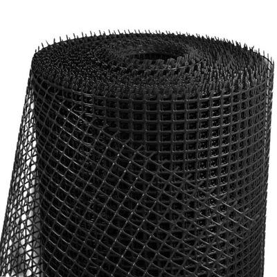 SIATKA OGRODZENIOWA PLASTIKOWA czarna 0,4x50m PCV