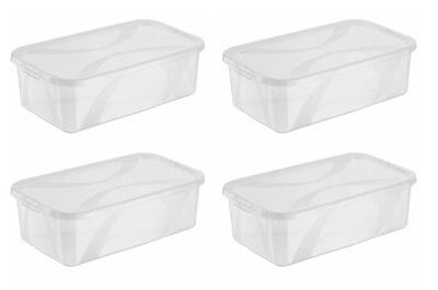 Zestaw 4 pojemników pudełek plastikowych 5 L ARCO