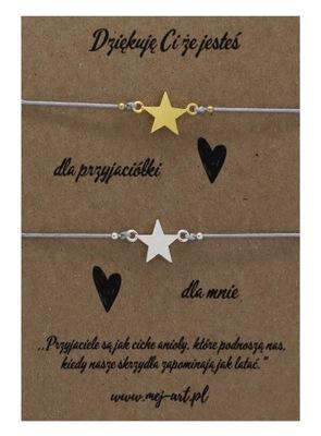Srebrne bransoletki przyjaźni z gwiazdką