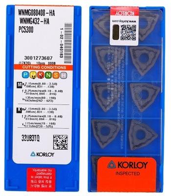 PŁYTKI WĘGLIKOWE WNMG 080408 HA PC5300 KORLOY