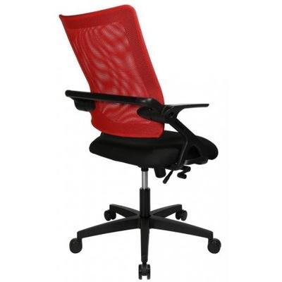 Krzesło obrotowe Topstar czarno czerwone D1