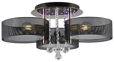 Plafon ANTILA 3x60W+ 22 LED czarny złoty pilot