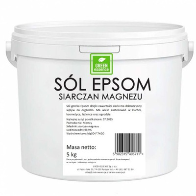 Zdrowa kąpiel z SIARCZAN MAGNEZU 5kg Sól Epsom