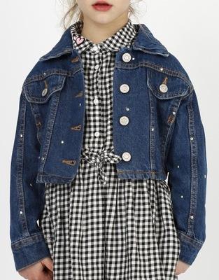 RESERVED Jeansowa kurtka dziewczęca r.152