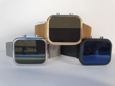 Zegarek damski LED LEDOWY pasek magnetyczny KOLORY
