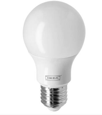 Żarówka LED E27 470 lumenów, kula opalowa biel