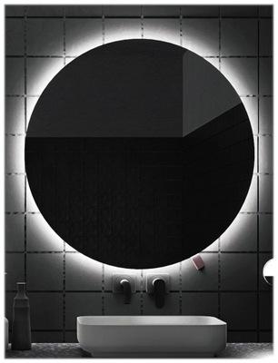 Lustro łazienkowe podświetlane LED, 80 cm okrągłe