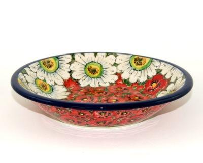 Блюдо цветы ?????????? ⌀21см керамика