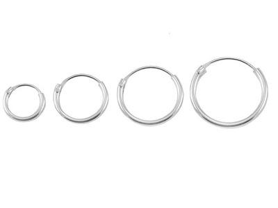 Kolczyki kółka koła zestaw 4 sztuki srebro 0,925