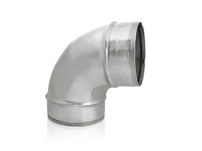 Koleno prieduch flex 90st KRÁTKE spiro. 160 mm