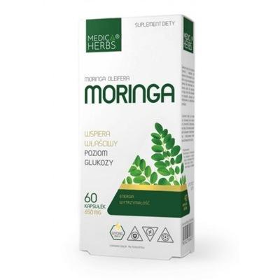 Medica Herbs Wyciąg z liści Moringa Oleifera 60x