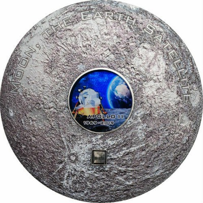 Cook Islands 2019 $20 Apollo 11 Метеорит MS70 3 оз