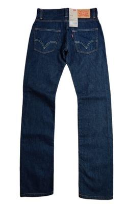 Spodnie Jeansowe LEVIS 511 SLIM 30x34 Niebieskie