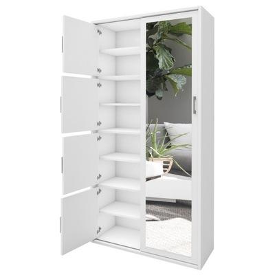 шкаф боковая гардероб прихожая белая сонома