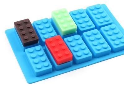 FORMA SILICONA ZAPATAS LEGO 10 ZAPATAS AZUL