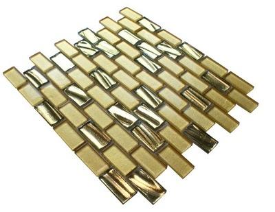 Мозаика стеклянная, плитка золото глянцевая GOLDEA