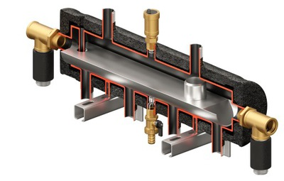 Hydraulická spojka, rozdeľovač 3DC + CONDENS 55kW