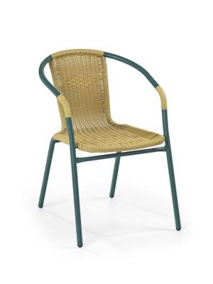 stoličky tmavo zelená GRAND 2 / tmavo hnedá Halmar
