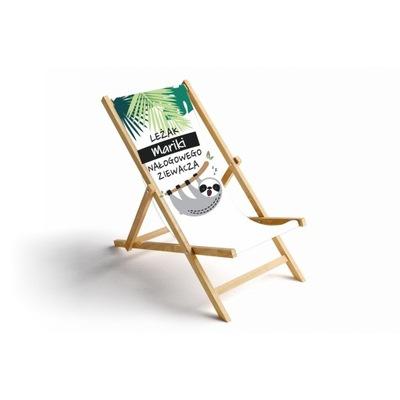 PREZENT Leżak plażowy personalizowany NOWY WZÓR