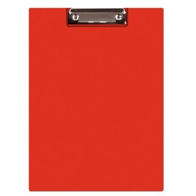 Clipboard teczka PVC A4 czerwony podkład z klipem