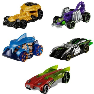 Pięciopak pojazdów Hot Wheels GHP57 Street Beasts