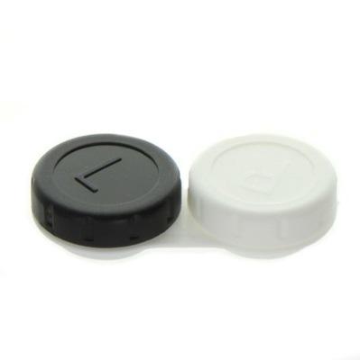 Klasyczny pojemnik na soczewki z oznaczeniem stron