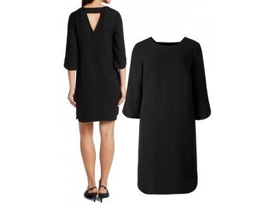 M&S sukienka prosta czarna elegancka 50