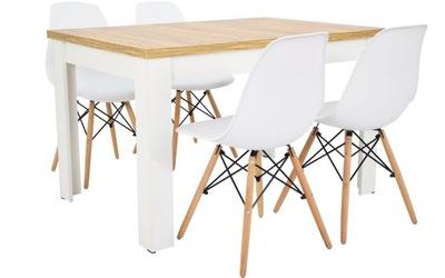 стол ?????????? 80x120/160 с 4, стулья Белый ???