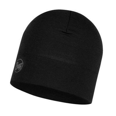 Czapka BUFF Midweight Merino Wool Hat - Black