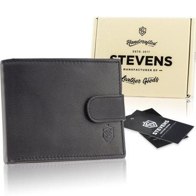Skórzany portfel męski STEVENS skóra naturalna