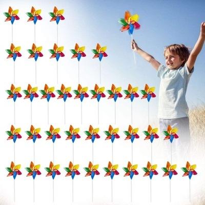50 X Wiatraczki Kolorowe Plastikowe Dzieci Ogród