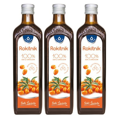 ОБЛЕПИХА 100 % сок фруктам облепихи, 3x980ml