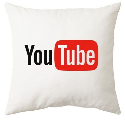Poduszka YouTube 40x40 duża