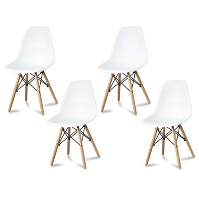 комплект 4x стул милано скандинавские белое 212AB