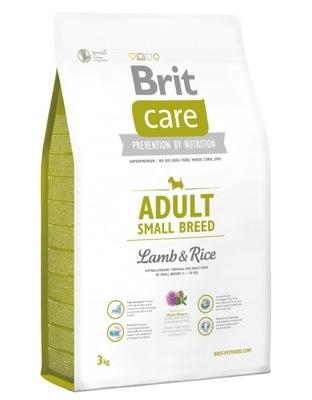 Brit Care ADULT SMALL Lamb & Rice 3кг