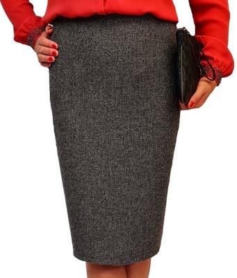 Modna spódnica ciepła 40 42 44 46 48 50 52 54 56