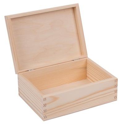 SKRZYNKA PUDEŁKO drewniane 22x16x8cm decoupage