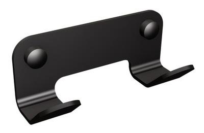 Záves pre kúpeľ dvojitý háčik black stenu